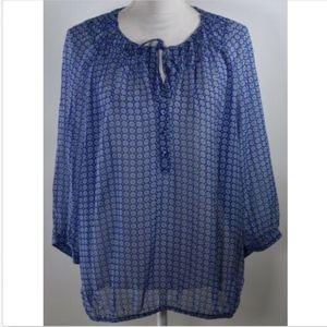 Gap women's top blouse shirt  XL print pullover